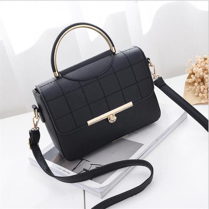10402f0eea7fd sac à main femme noir sacs de marque de luxe en cuir veritable femme  Nouvelle mode sac cuir chaine agréable cartable femme meilleur
