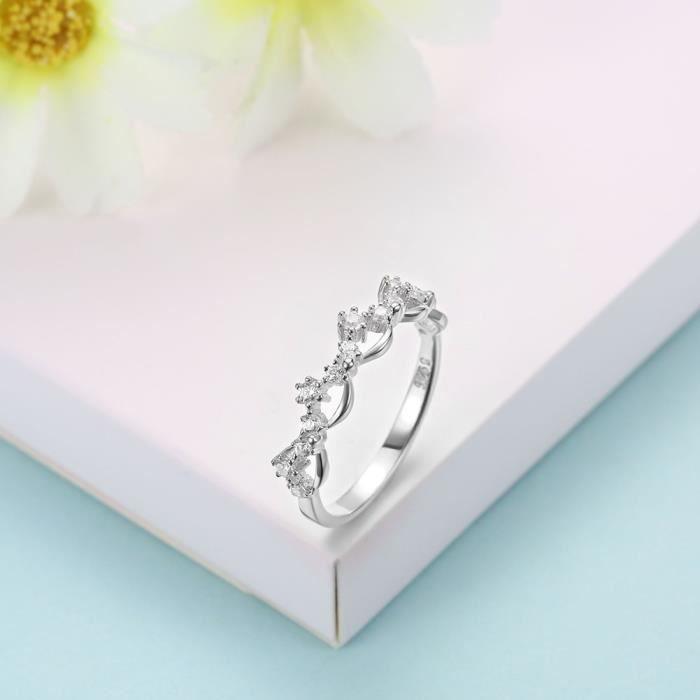 Mode Bijoux Sh-R0101 Bagues en argent plaqué or rose Silverhoo  Jysh-R0101-B-8 7a4e17a2be13