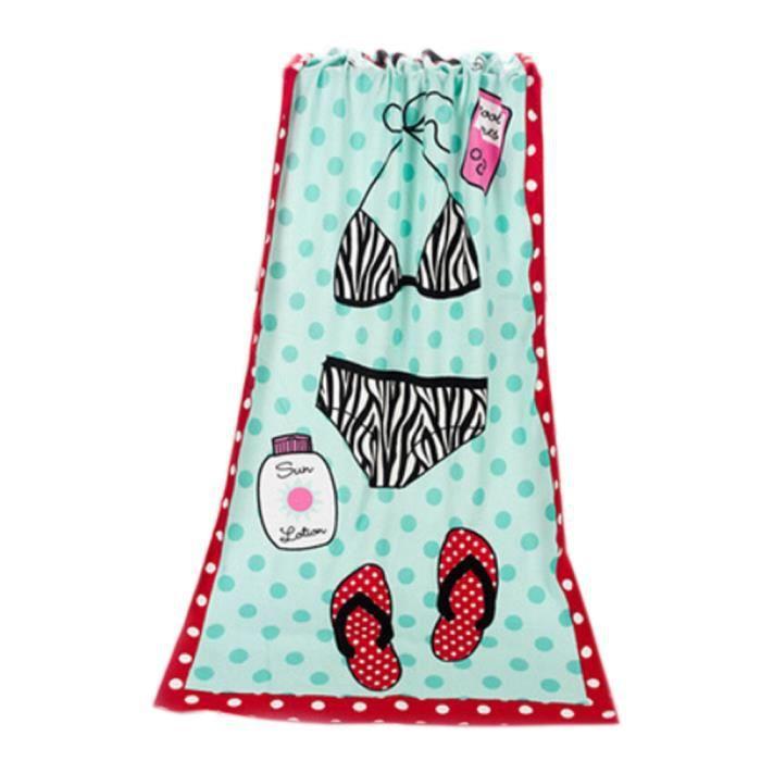 Large Soft Serviettes de plage 140 * 70cm, Motif Bikini - Achat ...
