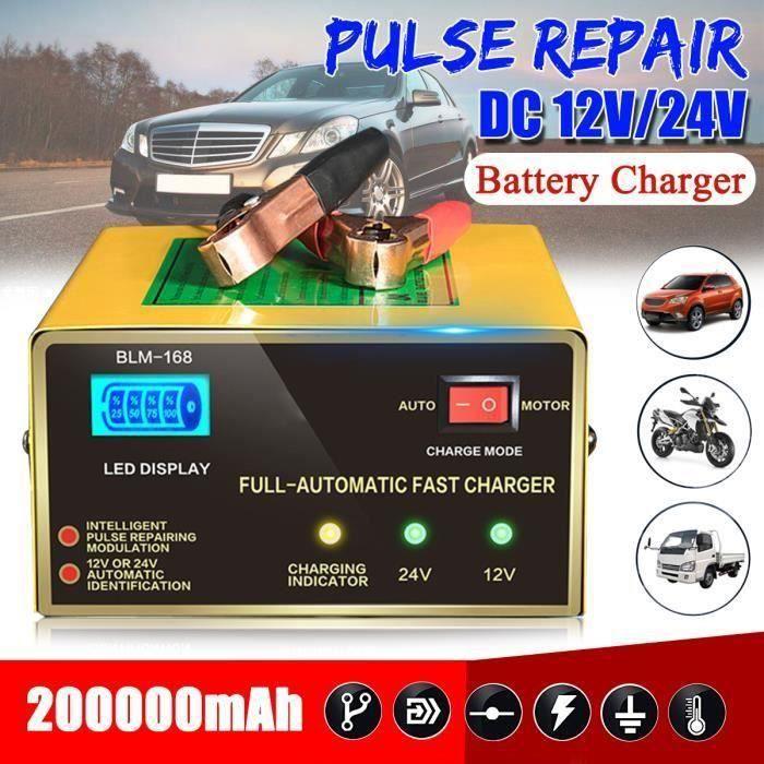 CHARGEUR DE BATTERIE Batterie Chargeur Voiture Moto Automatique Intelli