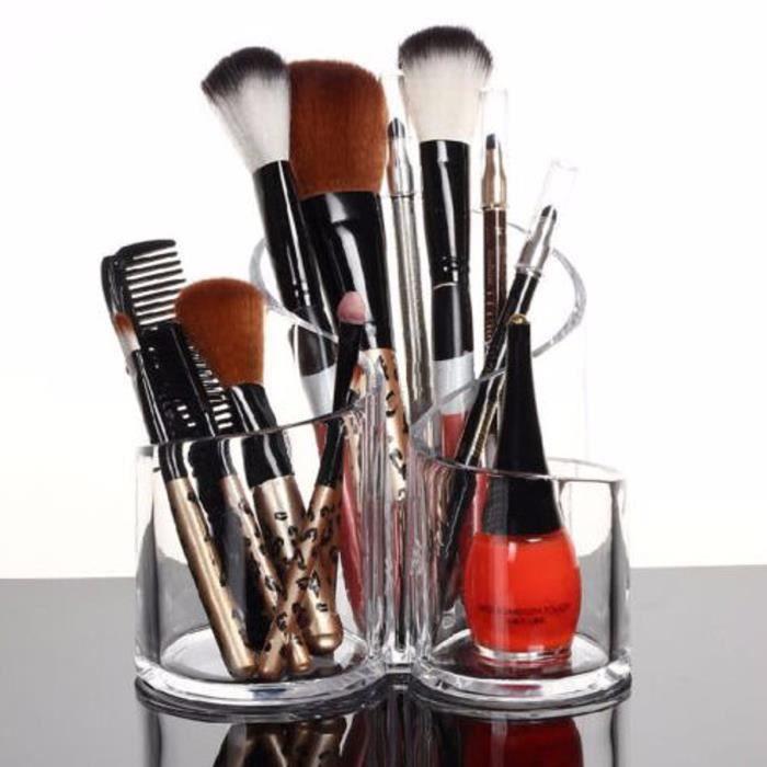 Boite de rangement pinceaux a maquillage - Achat / Vente pas cher