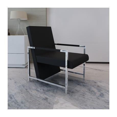 Fauteuil Design De Salon Vente Noir MajaAchat 8X0PkwnO