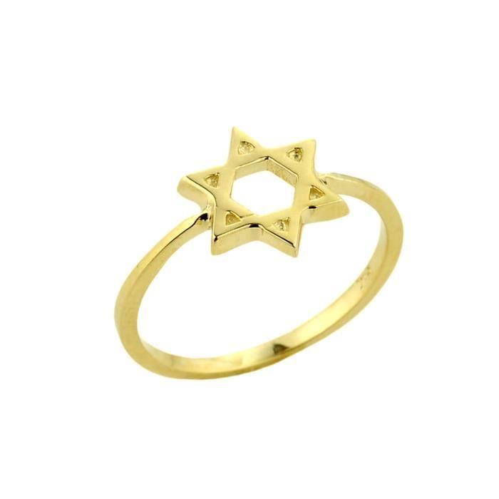 Bague Femme 10 ct Or 471/1000 Étoile de David juive Cercle