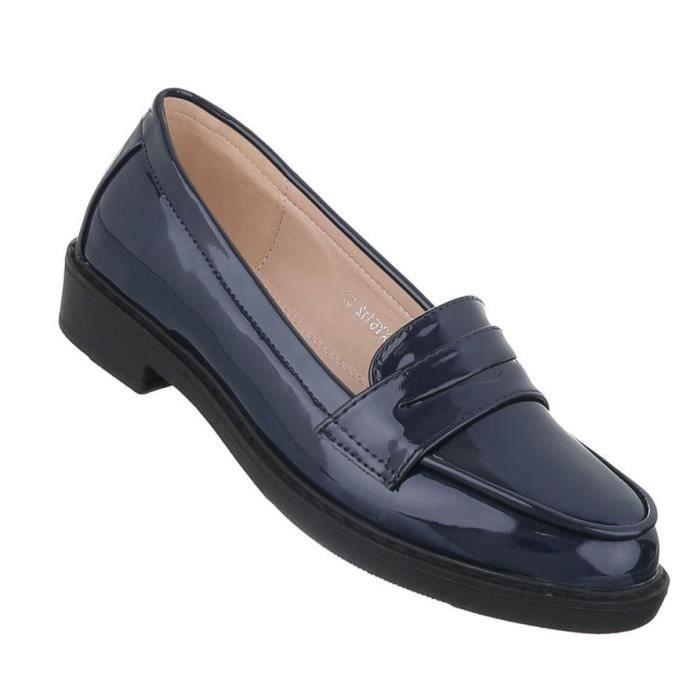 bassechaussures 41 moderne foncé Bleu Slipper chaussure Femme 5ASqw4z