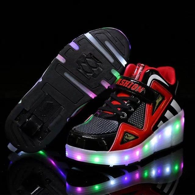chaussures lumineuses chaussures de roller skate pour les enfants Led light up sneaker womens chaussures de sport fvAcsDQ0k