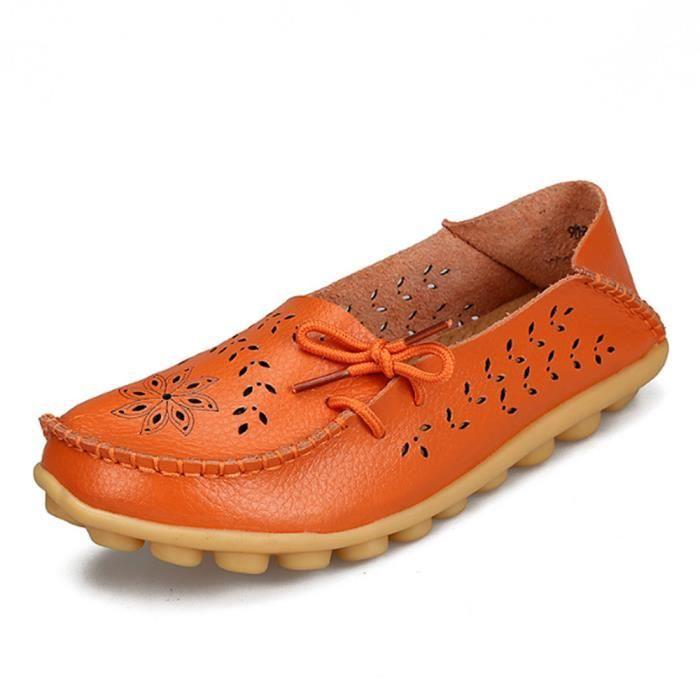 Loafer femmes Confortable Poids Léger Marque De Luxe Moccasin plates Creux-sculpté Nouvelle mode Bowknot Grande Taille bjZj8roBTz