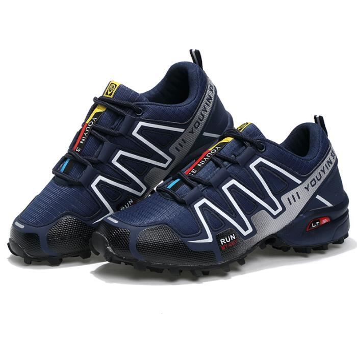 Baskethomme Chaussures de sport en plein air casual chaussures hommes nouveaux voyages chaussures de course chaussure sport chic eXygz