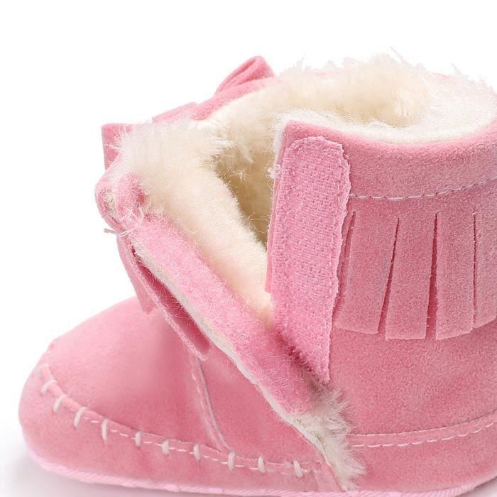 bébé fille douce bottes de neige Bottes Infant Toddler nouveau-né Chaussures de réchauffement blanc vk6hltVXgy