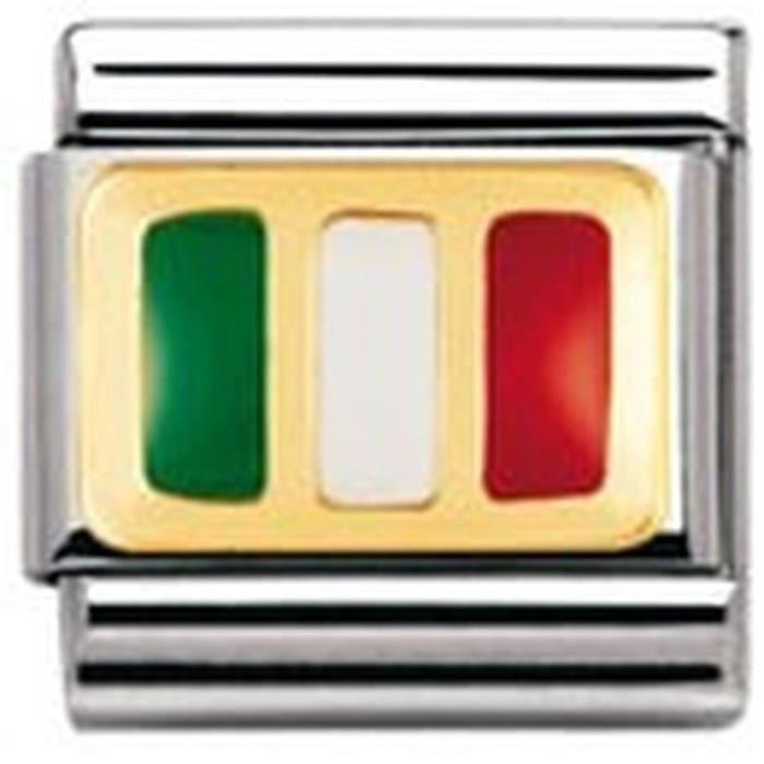 Nomination 030234 - Maillon Pour Bracelet Composable Mixte - Acier Inoxydable Et Or Jaune 18 Cts BGPR6