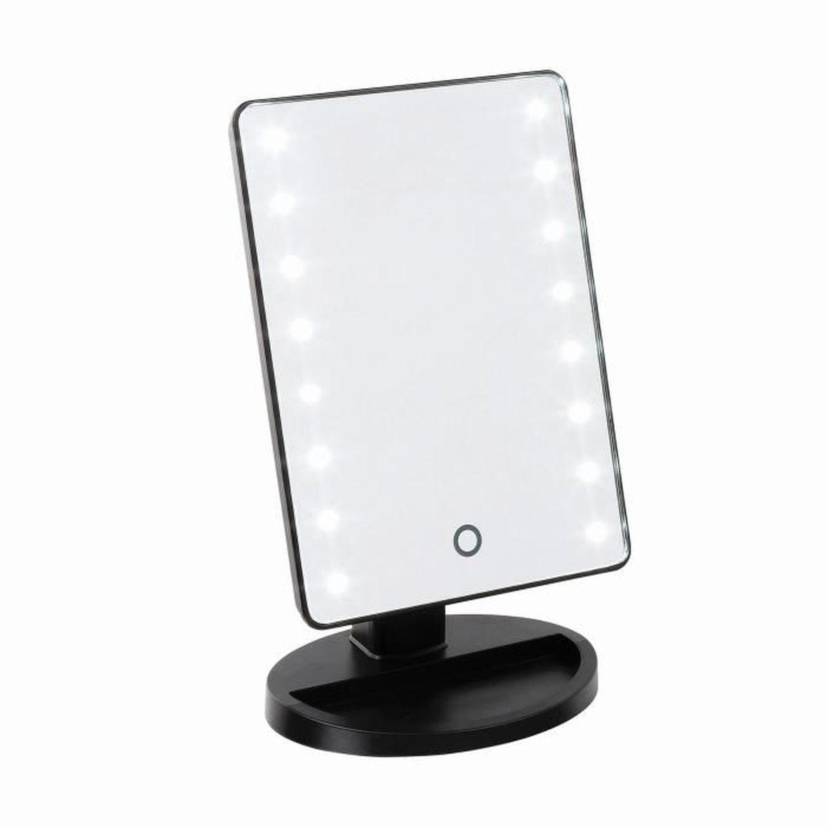 miroir lumineux tactile achat vente miroir cdiscount