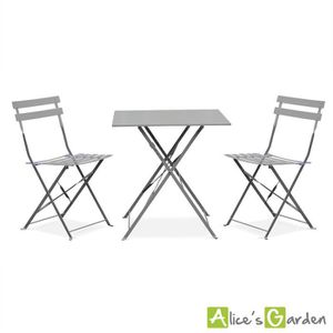 table bistrot jardin achat vente pas cher. Black Bedroom Furniture Sets. Home Design Ideas