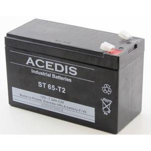 BATTERIE DOMOTIQUE Batterie plomb étanche 12V 7.2AH - ST65T2 ACEDIS