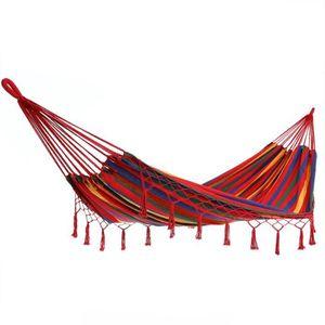 HAMAC Hamac à franges 210x150cm en coton/polyester - Cha