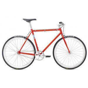 VÉLO DE COURSE - ROUTE Vélo fixie Fuji DECLARATION orange/bleu 2017
