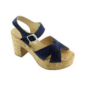 941d33e80e4 SANDALE - NU-PIEDS Jenifer - Sandale pour Femme talon compensé chauss