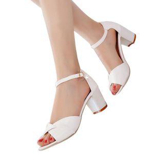 SANDALE - NU-PIEDS Femmes cheville sangle talons sandales à talons ha