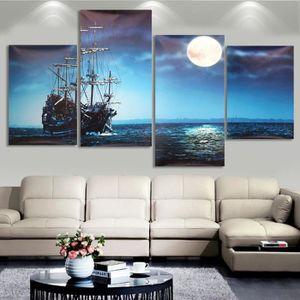Tempsa 3pcs Peinture A L Huile Tableau Paysage Bord De Mer