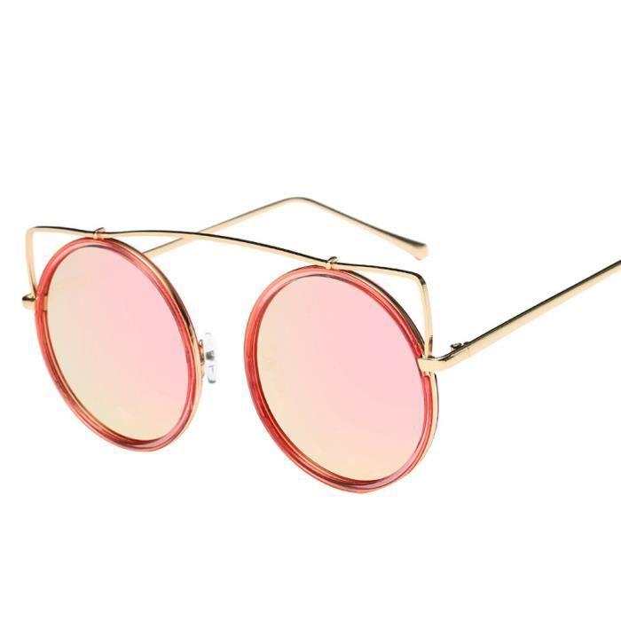 An-1345Hommes Femmes Lunettes lentilles claires métal lunettes de soleil Lunettes Cadre Myopie rose