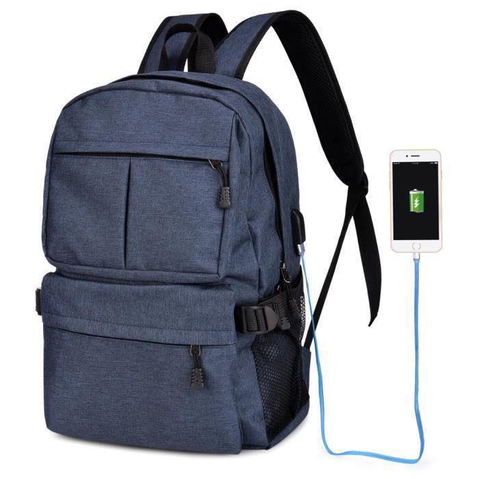 Vbiger Oxford Sac à dos grande capacité dépaule Sacs à dos pour ordinateur léger école Sac à dos Casual avec Port de charge