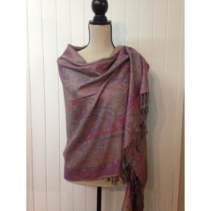 93460f3573aa Etole femme laine et soie - Achat   Vente echarpe - foulard ...