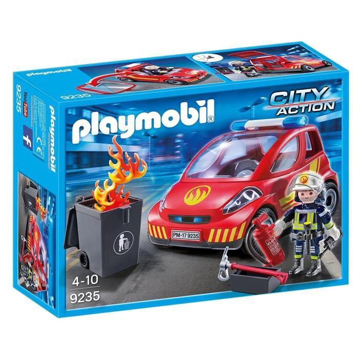 nouveaut 2018 playmobil 9235 pompier voiture achat vente univers miniature cdiscount. Black Bedroom Furniture Sets. Home Design Ideas