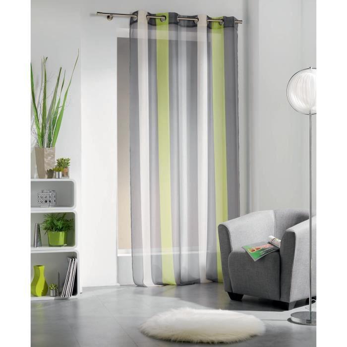 rideau vert anis achat vente rideau vert anis pas cher soldes d s le 10 janvier cdiscount. Black Bedroom Furniture Sets. Home Design Ideas