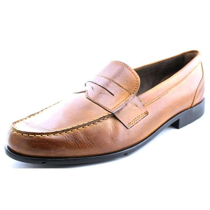 Rockport Classic Loafer Penny Cuir Mocassin Marron Achat