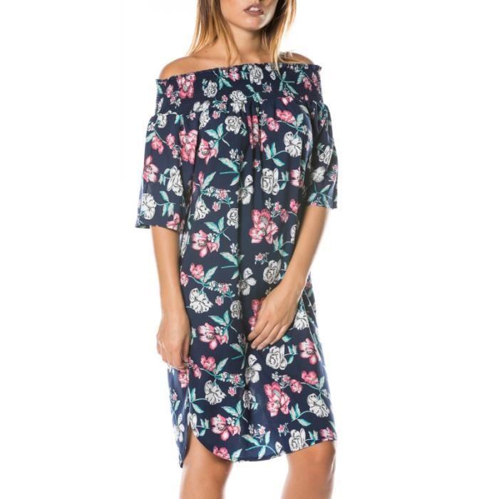 BLEU Robe fleurs80F à 17 29 bustier 2016123 BLEU UAZwfSO