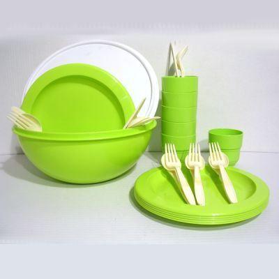 set pique nique 31 p plastique en saladier vert achat vente set vaisselle jetable cdiscount. Black Bedroom Furniture Sets. Home Design Ideas