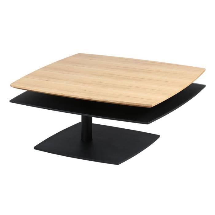 Table Basse Bois Noir.Table Basse Bois Noir Flamb L 85 X L 85 X H 40