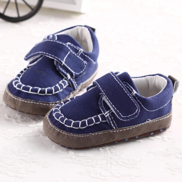 Bleu-Automne et hiver Bébé Nouveau Chaussures en coton Loisirs Fond mou Chaussures de bébé en bas âge ltfboiI