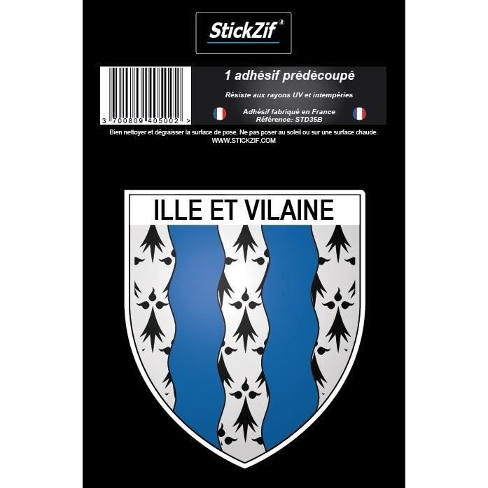 STICKZIF 1 Adhésif Blason Ille Et Vilaine STD35B