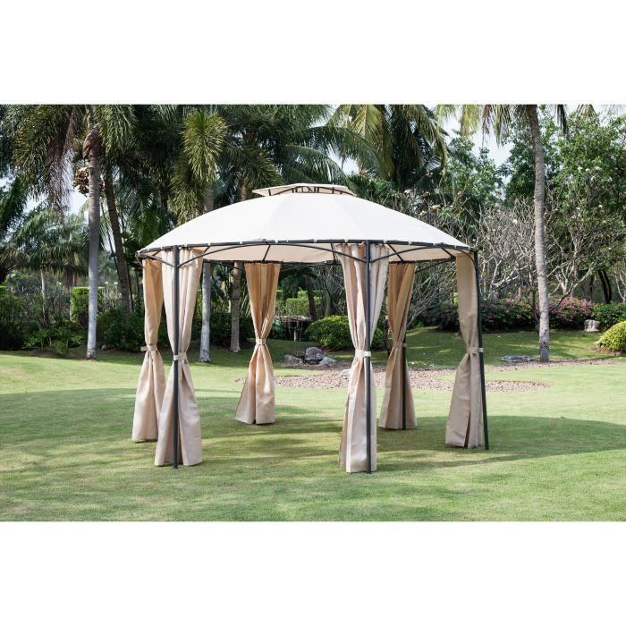 45 sur new delhi tonnelle de jardin avec toile. Black Bedroom Furniture Sets. Home Design Ideas