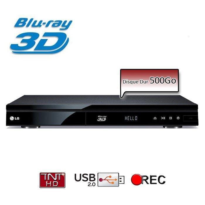 LECTEUR BLU-RAY LG HR835T Lecteur Blu Ray 3D Enregistreur TNT HD