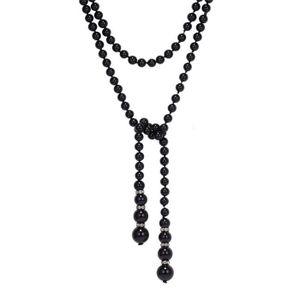SAUTOIR ET COLLIER U7 Collier Rope Chaîne de Perles Doublé Bijou Élég ee830dd1b081
