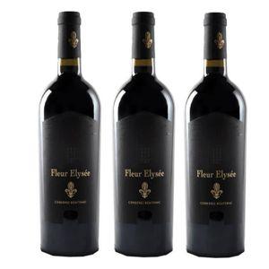 VIN ROUGE 3 Bouteilles - FLEUR ELYSÉE - Vin Rouge 2014 - COR