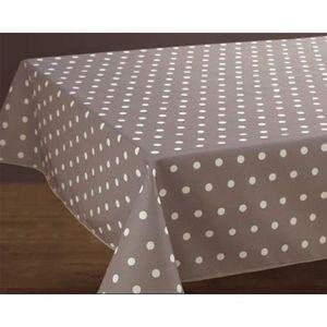 nappe ronde couleur taupe achat vente pas cher. Black Bedroom Furniture Sets. Home Design Ideas