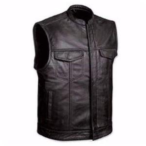BLOUSON - VESTE Gilet cuir Biker Anarchy Taille XXL