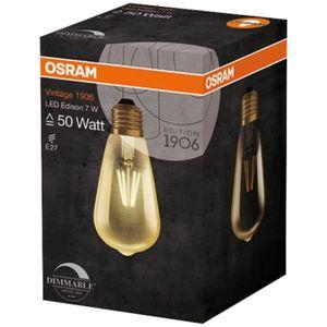 AMPOULE - LED OSRAM-Ampoule LED filament Edison E27 Ø6,4cm 2400K
