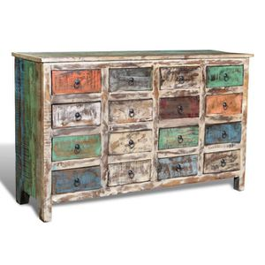 COMMODE DE CHAMBRE Ce style antique récupéré vintage avec 16 tiroirs