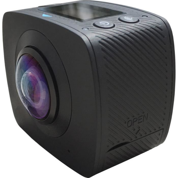 QANTIK ORBIT 360 Caméra de sport 360° - 5 mégapixels - Noir