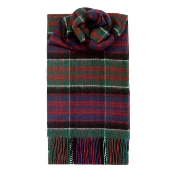 Macdonald Clanranald Tartan écharpe en laine d agneau 1C2L0P Rouge ... f278bfbbdb5