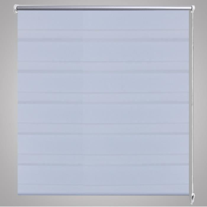 Store enrouleur blanc tamisant 100 x 175 cm fenêtre rideau pare-vue ...