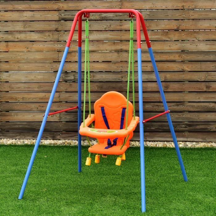 Balan oire si ge chaise pour enfant b b avec dossier et ceinture s curit achat vente - Balancoire pour enfant ...