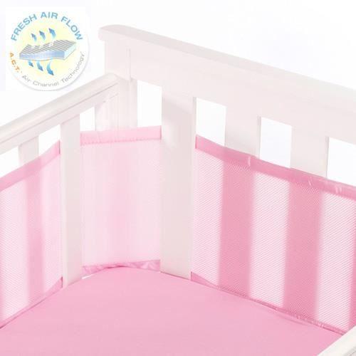 tour de lit bébé respirant Tour de lit respirant   Rose uni   Achat / Vente tour de lit bébé  tour de lit bébé respirant