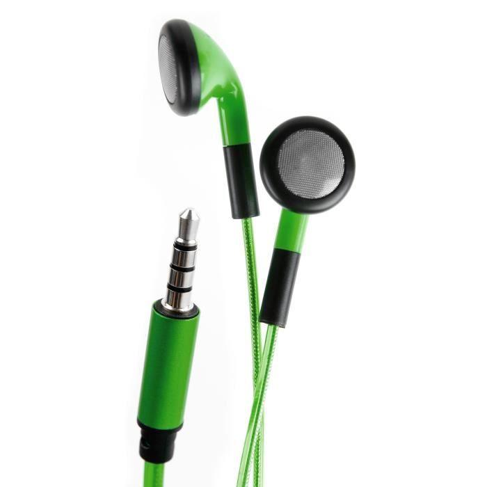 Duragadget Ecouteurs Verts Led Lumineux Pour Apple Macbook (2017) Pro 13 15 Ordinateur Pc