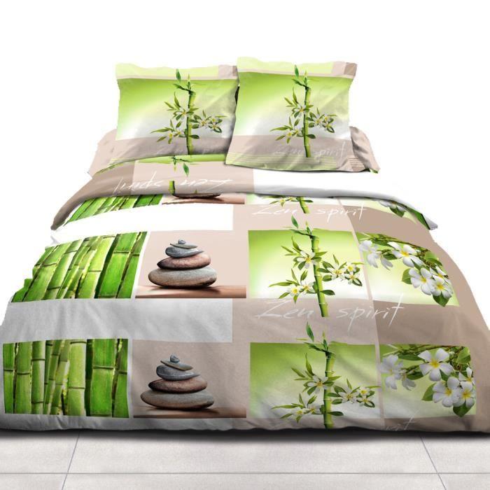 linge de lit zen achat vente pas cher. Black Bedroom Furniture Sets. Home Design Ideas
