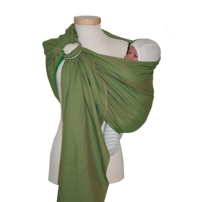Echarpe de portage, Ringsling, modèle Léo verte Vert - Achat   Vente ... 78066c4f665