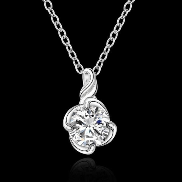 Collier fleur cristal swarovski elements argent 925