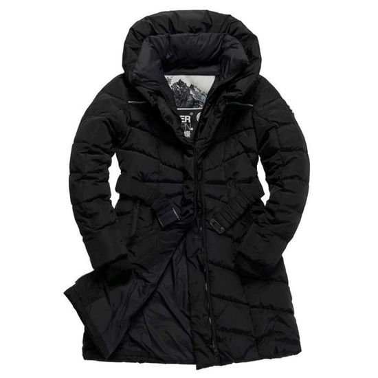 Taille Xs Superdry Doudoune Glacier Femme Noir Coat xZxaPRq